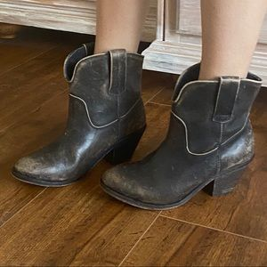 Corral Factory Worn Look Western Ankle Boots  8.5